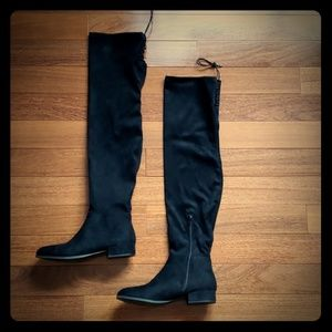 Chinese Laundry Black Over the Knee Rashelle Boots